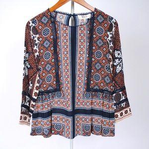 SEA New York Ezri paisley crochet blouse